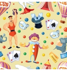 Circus entertainment seamless pattern flat style vector