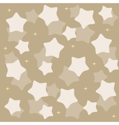 golden yellow stars over blue background vector image vector image