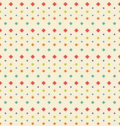 Seamless Geometric Texture with Rhombus Vintage vector image vector image