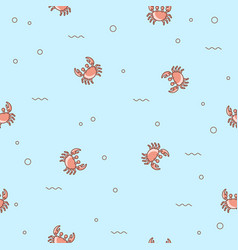 seamless pattern crabs vector image vector image