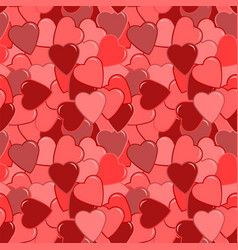 seamless red heart pattern vector image vector image