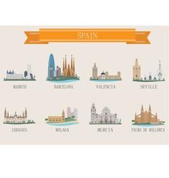 spain city vector image