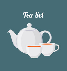 teapot and cups seamless pattern vector image vector image