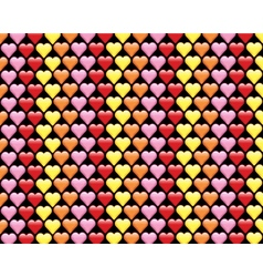 Colorful Hearts Background Pattern vector image vector image