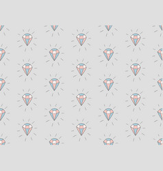 colorful seamless pattern with diamonds vector image vector image