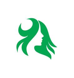 logo woman silhouette head face logo vector image vector image