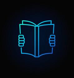 reading a book blue icon vector image vector image
