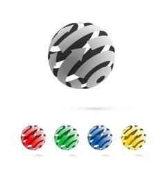 Set of logo globe icon elements vector image vector image