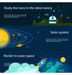 Space And Universe Banner Set vector image