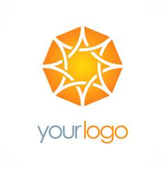 star abstract shine logo vector image