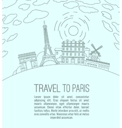 Travel to Paris 07 A vector image