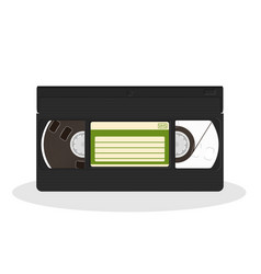 vintage video cassette isolated on a white vector image vector image
