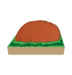 Ayers Rock Australia icon cartoon style vector image