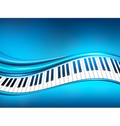 Blue Piano Background vector image