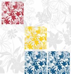 flower panels vector image vector image