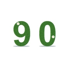 Grass numbers 9-0 vector image vector image