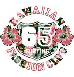 Hawaiian fashion club vector image vector image
