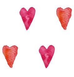 pattern watercolor hearts vector image vector image