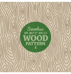 Retro wood seamless background vector image vector image