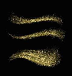 stardust collection gold glitter wave set magic vector image vector image