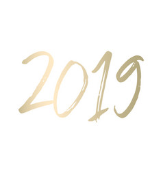 2019 new year decoration design vector image