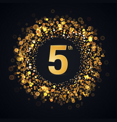 5 years anniversary isolated design element vector