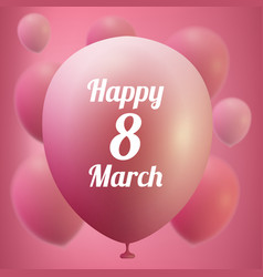 8 march women s day greeting card template pink vector image