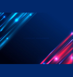 abstract technology futuristic lighting effect vector image