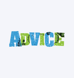 Advice concept stamped word art vector