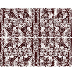 African tribal aborigines brown ornament vector