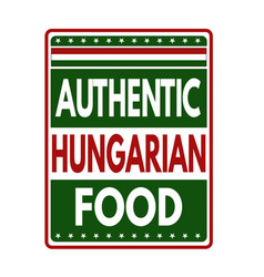 Authentic hungarian food label or stamp vector
