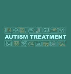 Autism treatment word concepts banner vector