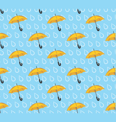 background with a rain and umbrella vector image