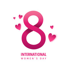 banner for the international womens day flyer vector image