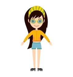 Beautiful cartoon fashion girl vector