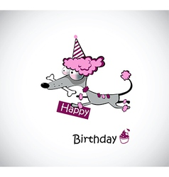 Birthday poodle vector image