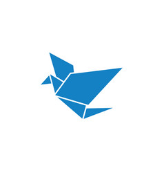 blue bird poly icon design template isolated vector image