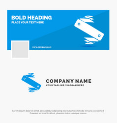 Blue business logo template for knife army vector