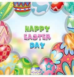 Border design with easter theme vector