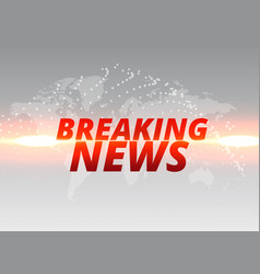 breaking news tv concept backdrop banner vector image