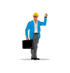 Building engineer cartoon vector