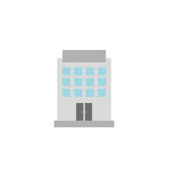 building hotel flat style icon vector image