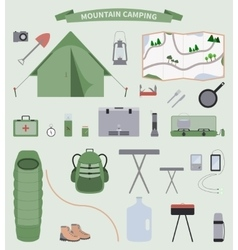 Camping Set vector image