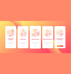 Capital inventory elements onboarding mobile app vector