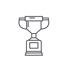 championship cup line icon concept championship vector image