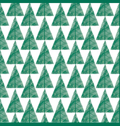 christmas tree greeting seamless pattern winter vector image