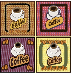 coffee shop design elements vintage vector image vector image