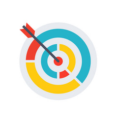 colored target icon vector image