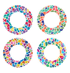 colorful mosaic round patterns vector image