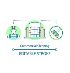 Commercial cleaning concept icon vector